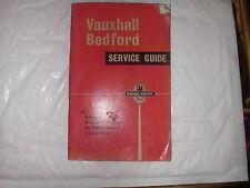 VAUXHALL BEDFORD Dealer elenco LIBRO 1961 USATO