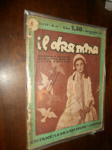 RIVISTA : IL DRAMMA -ED. LE GRANDI FIRME  -1 SETTEMBRE 1925 ANNO VI