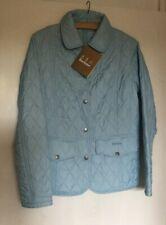 Ladies Baby Blue Barbour Tailored Quilted Jacket Coat 12 Lightweight New Unworn