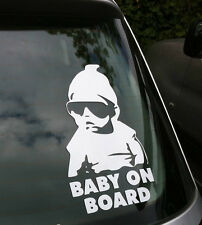 COOL BABY ON BOARD CAR STICKER VINYL DECAL