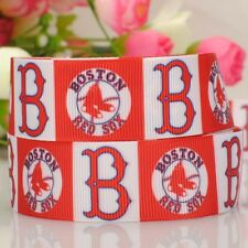 Boston red sox Ribbon baseball sport team logo print grosgrain 50yards 22mm