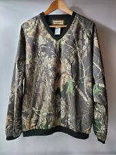 Camo Remington Mossy Oak Break Up Camo Nylon Pullover Long Sleeve Shirt size L