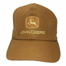 Vintage John Deere Logo Snapback Hat K-Products Made In USA Farmer Hunting