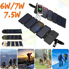 Folding Solar Power Charger Panel USB Output Portable Mobile Phone Power Bank
