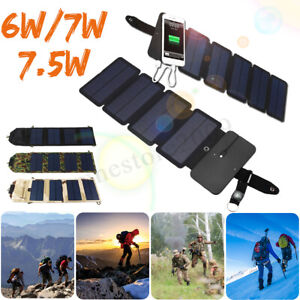 Folding Solar Power Charger Panel USB Output Portable Mobile Phone Power Bank