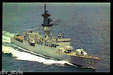 USS Reasoner DE-1063 postcard  US Navy ship Ocean escort destroyer Knox class