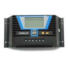 Solar Laderegler 10A/20A/30A/60A LCD-Anzeige USB 12V-24V PWM Controller