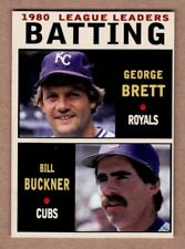 George Brett & Bill Buckner '80 Batting Leaders Monarch Corona Leaders Series #1