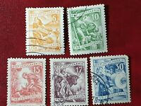YUGOSLAVIA - 1952 - NATIONAL ECONOMY  - 5 stamps  - Used