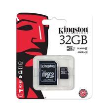 32 GB NUOVA KINGSTON MICRO SD SCHEDA DI MEMORIA SDHC, classe 10 CON ADATTATORE SD CARD