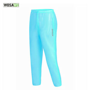 Mens 100% Waterproof Over Trousers High Vis Cycling Riding Rain Pants Windproof
