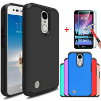 For LG Rebel 2/Fortune/Phoenix 3/Risio 2 Armor Case Cover With Screen Protector