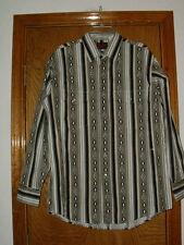 Mens Plains Western Pearlized Snap L/S Dress Shirt Large