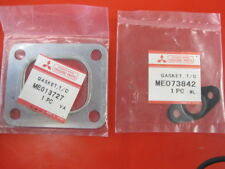 2 New OE Mitsubishi turbocharger turbo inlet & oil return gasket FE Fuso Canter