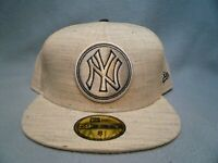 New Era 59fifty New York Yankees Team Out Heather Sz 8 BRAND NEW Fitted cap hat