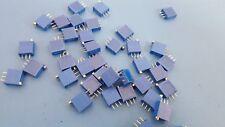 """Trimmer Resistors, Through Hole 3/8"""", 10Kohms, Bourns, 3292W-1-103,RJ24FW103 X10"""