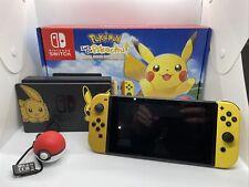 Nintendo Switch Pokemon Lets Go Pikachu Limited Edition Console + Pokeball Plus