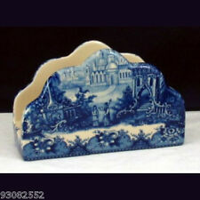 Porcelain Napkin holder - Blue & White French Vintage design by Somerton Green