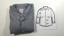 Brooks Brothers Men Dress Shirt Size 17/5 100% Cotton, Button-Down, Classic Fit