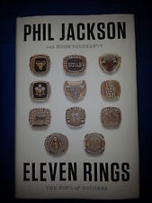 PHIL JACKSON SIGNED ELEVEN RINGS HARDCOVER BOOK