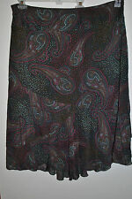 Very Cute Womens STYLE & CO WOMAN Paisley Rayon Lined Skirt Size 18W Plus