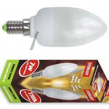 8 CANDLE BULBS WARM WHITE LOW ENERGY SAVING 7w SES E14 2700k  LAMPS
