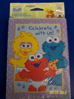RARE Sesame Street Beginnings Kids Birthday Party Invitations & Thank You Notes
