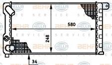 8MK 376 719-521 HELLA Radiatore Raffreddamento Motore