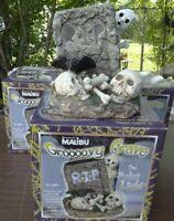 Groooovy Grave Halloween Solar Light Tombstone Ghosts By Intermatic Malibu.Rare!