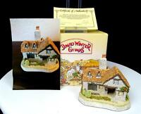 "DAVID WINTER THE TANNERY JOHN HINE DECORATED 3 1/4"" COTTAGE BOX & COA 1994"