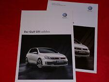 "VW Golf VI GTI ""adidas"" Sondermodell Prospekt + Preisliste von 2010"