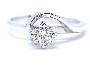 Diamond Solitaire 18Carat White Gold Brilliant Cut 0.30ct. H-I  Vs2-Si1 Size J