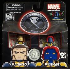 2011 MARVEL MINIMATES TOYS R US X-MEN FIRST CLASS MAGNETO & MYSTIQUE FIGURES MIP
