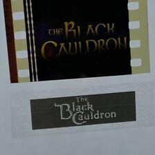 Disney Animation Authentic 1985 Film 5-Cell Strip THE BLACK CAULDRON Title Frame