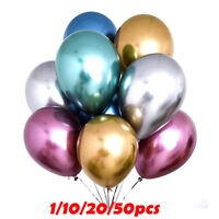 1-50pcs 12inch Chrome Shiny Metallic Latex Balloons for Birthday Wedding Party