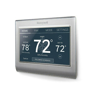 NEW - Honeywell Home RTH9585WF1004 Wi-Fi Smart Color Thermostat Silver/Grey