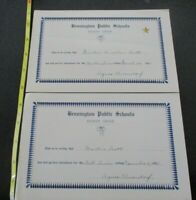 2 Bennington Vermont First Baptist Church Work Time Pledge Cards Sunday School