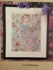 Birds of a Feather LE PRINTEMPS spring sampler cross stitch pattern