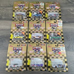 NASCAR Legends 50th Anniversary Lot of 9 Diecast Cars 1:64 Racing Champions Vtg