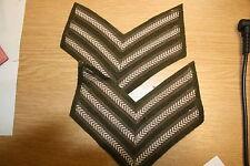 BRITISH CANADIAN WW2 ARMY SERGEANT'S RANK STRIPES BD BATTLEDRESS PERFECT COPIES