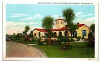 Municipal Visitors Club and Chamber of Commerce, Brunswick, GA Postcard *262