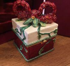 Nib Fitz And Floyd Christmas Present Hinged Box Treasures Collection 2004 34/115