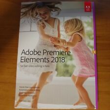 ADOBE PREMIERE ELEMENTS 2018 WIN MAC RETAIL PACK WITH DVD NEW
