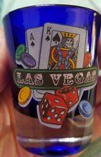 New LAS VEGAS Shot Glass Poker Chips Cards Dice