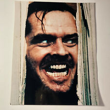 THE SHINING JACK NICHOLSON colored photograph picture photo Here's Johnny 10x8