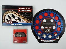 Husqvarna FC250 FE250 Renthal Gold R1 H/D Chain And Renthal Sprocket Kit BLUE