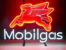 "New Mobil Gas Mobilgas Neon Light Sign 14""x10"" Glass Beer Artwork Lamp Bedroom"