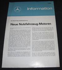 Technische Information Mercedes Nutzfahrzeug Motoren Direkteinspritzung 01/1964!