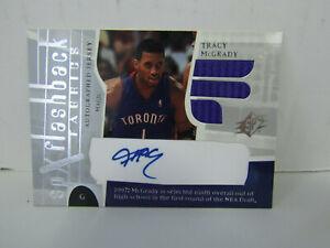 2003 SPX #192 Tracy MCGrady Flashback Fabrics Patch Auto Toronto Raptors
