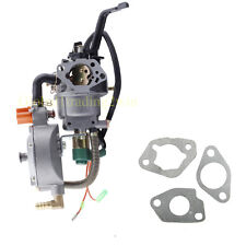 Dual Fuel Generator gasoline carburetor Carb FitHONDA GX390 188F 5KW Water Pump